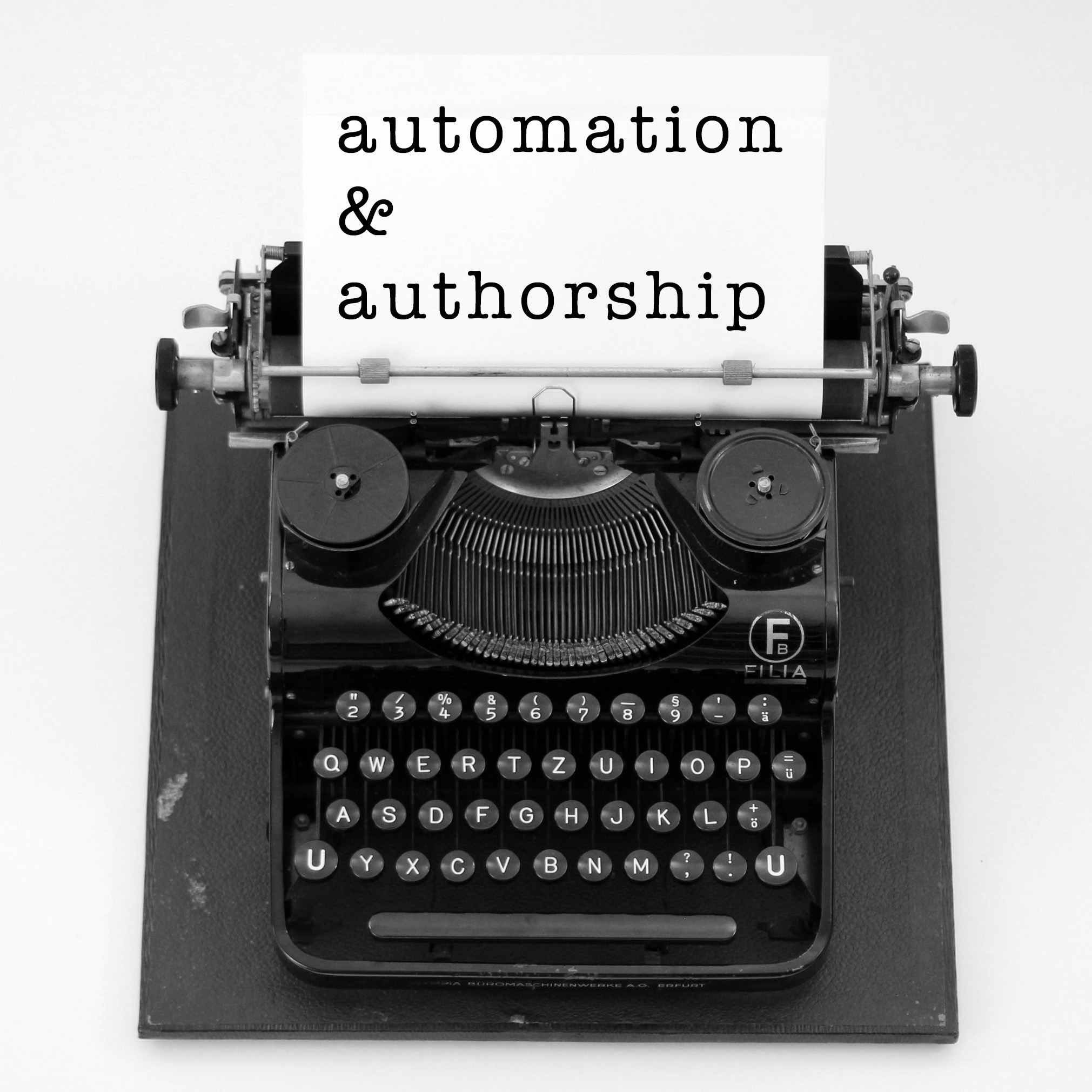 Automation and Authorship Cover