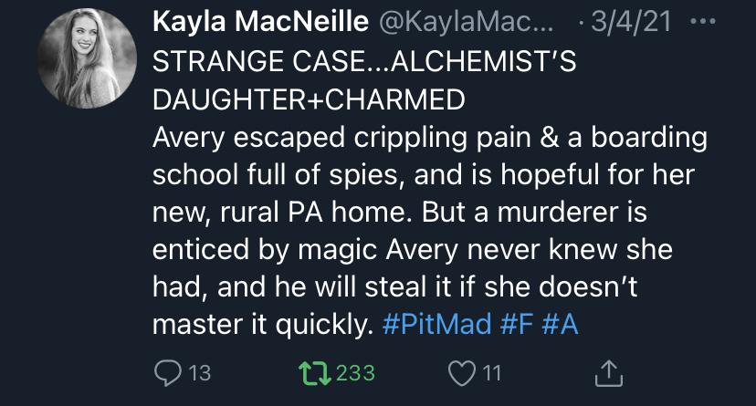 Kayla PitMad Tweet